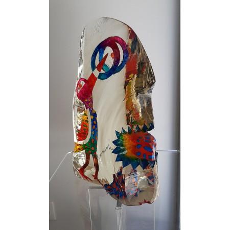 Imaginaire I, sculpture en verre contemporain pièce unique par artiste verrier
