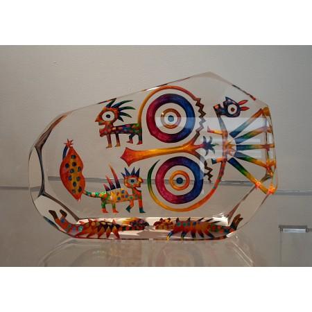 Imaginaire II, sculpture pièce unique en verre contemporain par artiste verrier